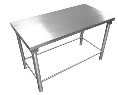 Mesas acero mesa de comedor redonda cristal acero mesas for Mesa inoxidable